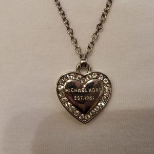 Michael kors heart pendant necklace